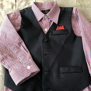 Boy's 4-Pc. Vest, Shirt, Pants and Bowtie Set
